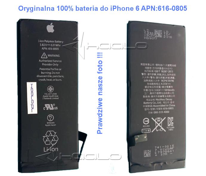 Oryginalna bateria iPhone 6 APN:616-0805