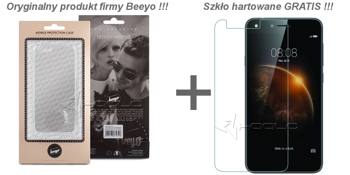 Silikon + szkło do Huawei Y6 II compact