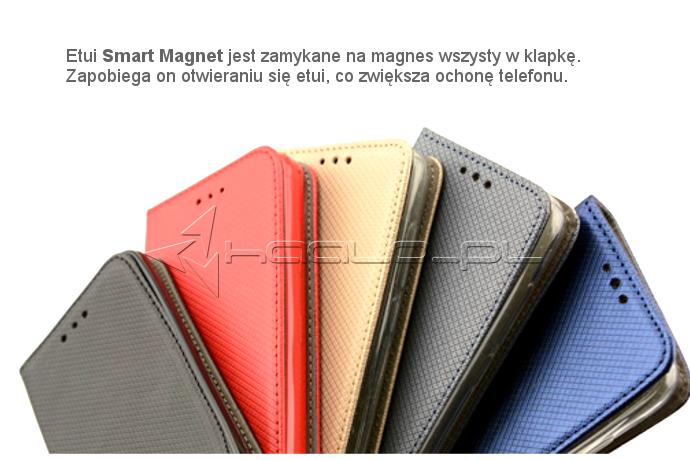 Kolorowy futerał z klapką na magnes do Huawei P9