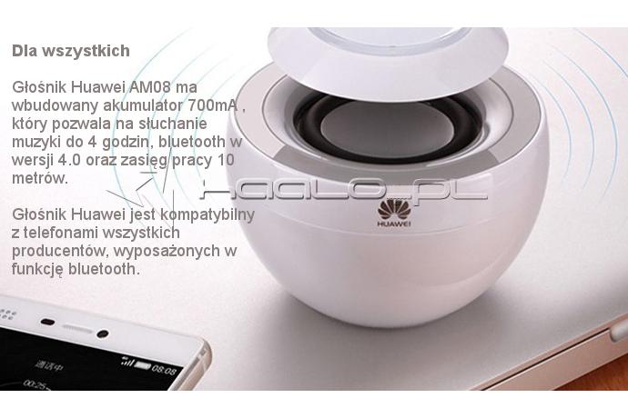 Huawei AM08 głośnik bluetooth czas słuchania muzyki 4 godziny