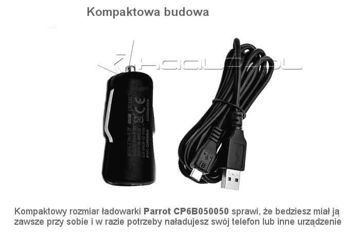 Ładowarka samochodowa Parrot do zestawu Parrot MINIKIT Neo/Glam/Neo 2 HD