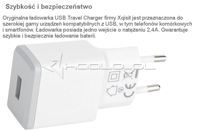 Oryginalna Ładowarka sieciowa Xqisit USB Travel Charger 2.4 A Uniwersalna