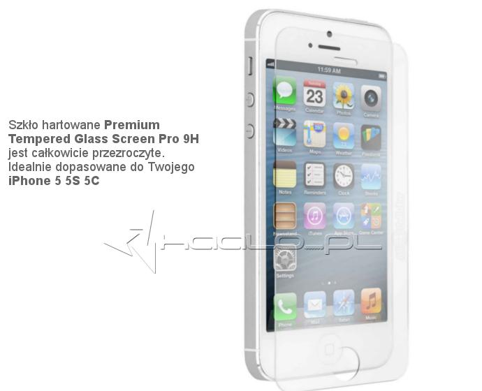 Szkło hartowane do iPhone 5 5S 5C