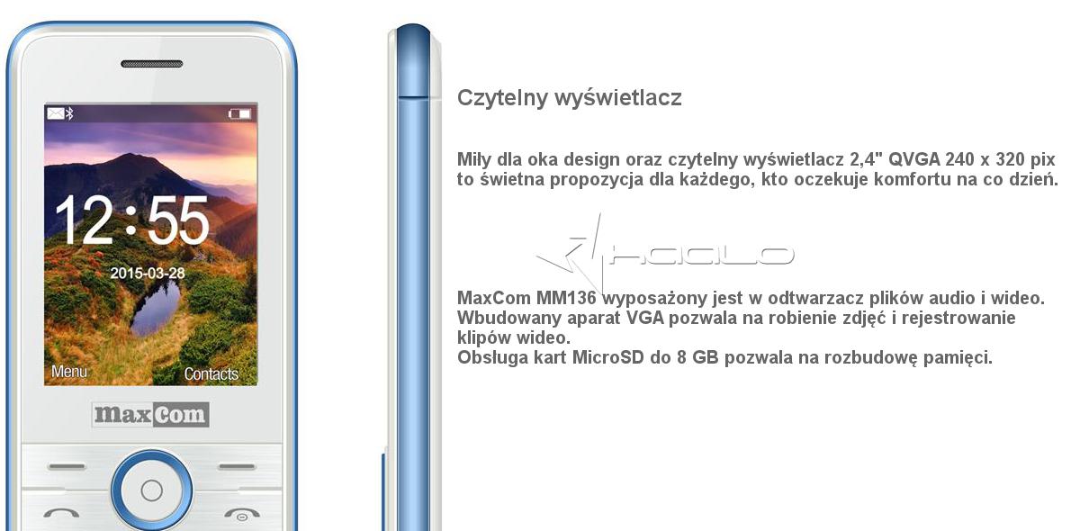 Telefon komórkowy Maxcom MM136