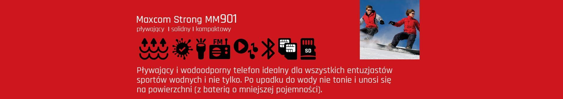 Niezatapialny telefon Maxcom MM901 Strong