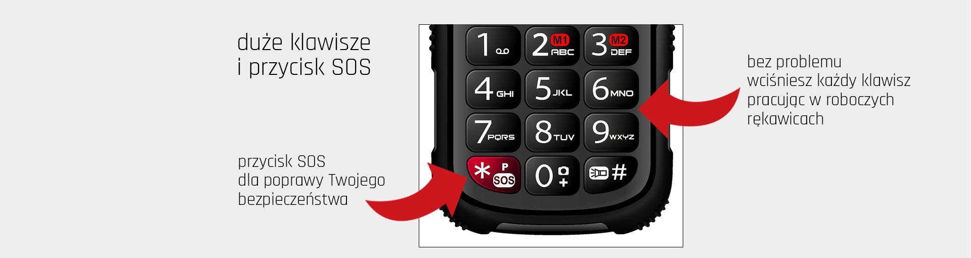 Telefon dla wymagających Maxcom MM910 Strong