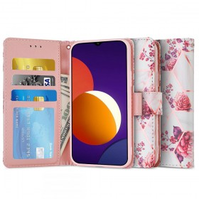 TECH-PROTECT WALLET GALAXY M12 FLORAL ROSE