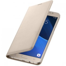 Futerał Samsung J3 J320 2016 Flip Wallet złoty
