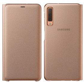 Futerał Samsung A7 A750 2018 Wallet Cover złoty