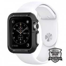 SPIGEN SGP RUGGED ARMOR APPLE WATCH 1/2/3 (42MM) BLACK-119377