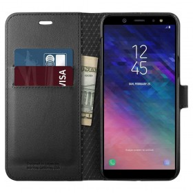 SPIGEN WALLET S GALAXY A6 2018 BLACK