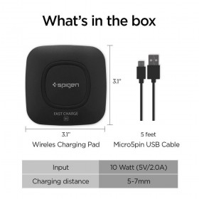 SPIGEN F301W WIRELESS CHARGER BLACK