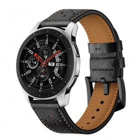 TECH-PROTECT LEATHER SAMSUNG GALAXY WATCH 3 41MM BLACK