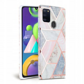 TECH-PROTECT MARBLE GALAXY M21 PINK