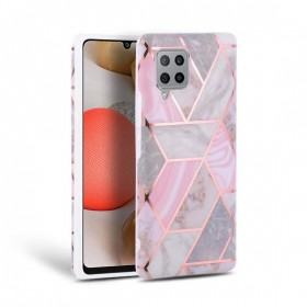 TECH-PROTECT MARBLE GALAXY A42 5G PINK