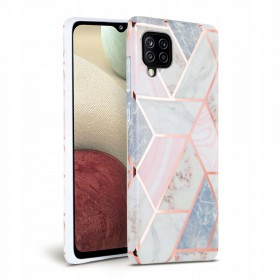 TECH-PROTECT MARBLE GALAXY A12 PINK