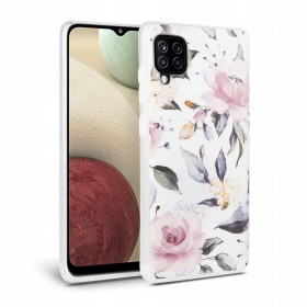 TECH-PROTECT FLORAL GALAXY A12 WHITE