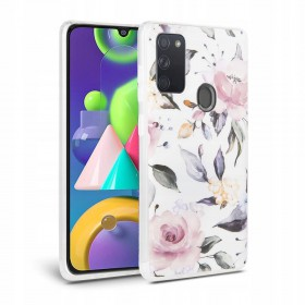 TECH-PROTECT FLORAL GALAXY A21S WHITE