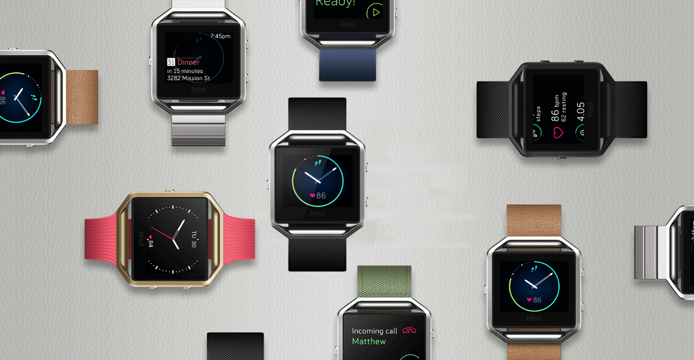 Sportowy zegarek fitbit blaze smart fitness watch