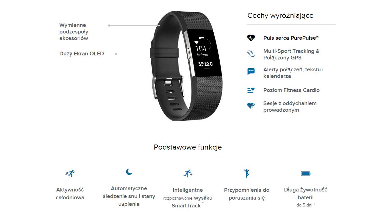 Fitbit Charge 2 opaska sportowa