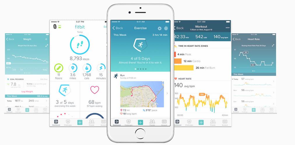 Charge 2 aplikacja fitbit