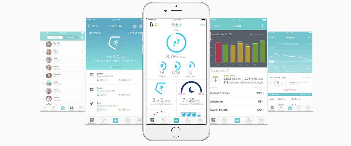 aplikacja fitbit flex 2