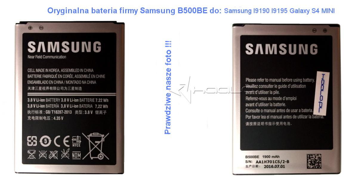 Bateria Samsung Galaxy MIni I9190 I9195 SEB-B500BE oryginał