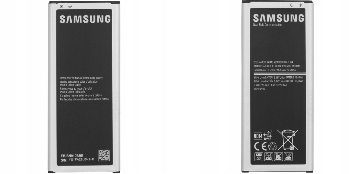 Autoryzowany serwis urządzeń mobilnych firmy Samsung oferuje oryginalną 100% baterię EB-BN910BBE.