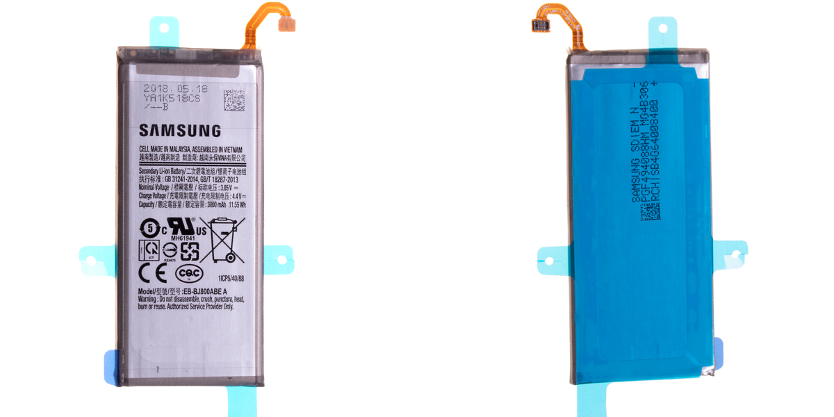 bateria do samsung j6 j600 2018