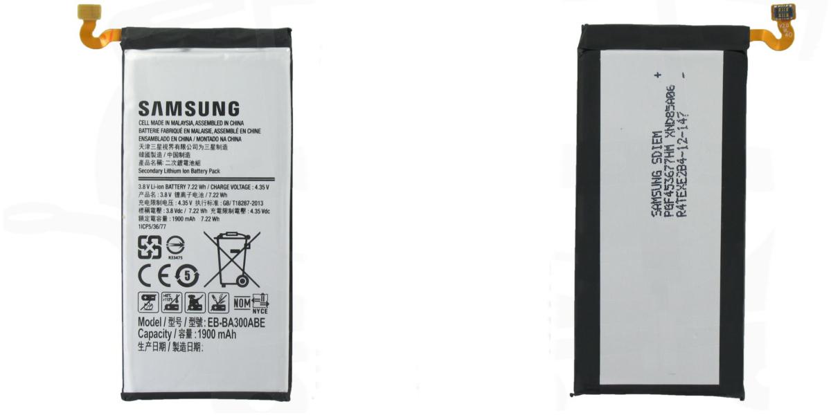 wymiany baterii w smartfonie Samsung Galaxy A3 A00 2015