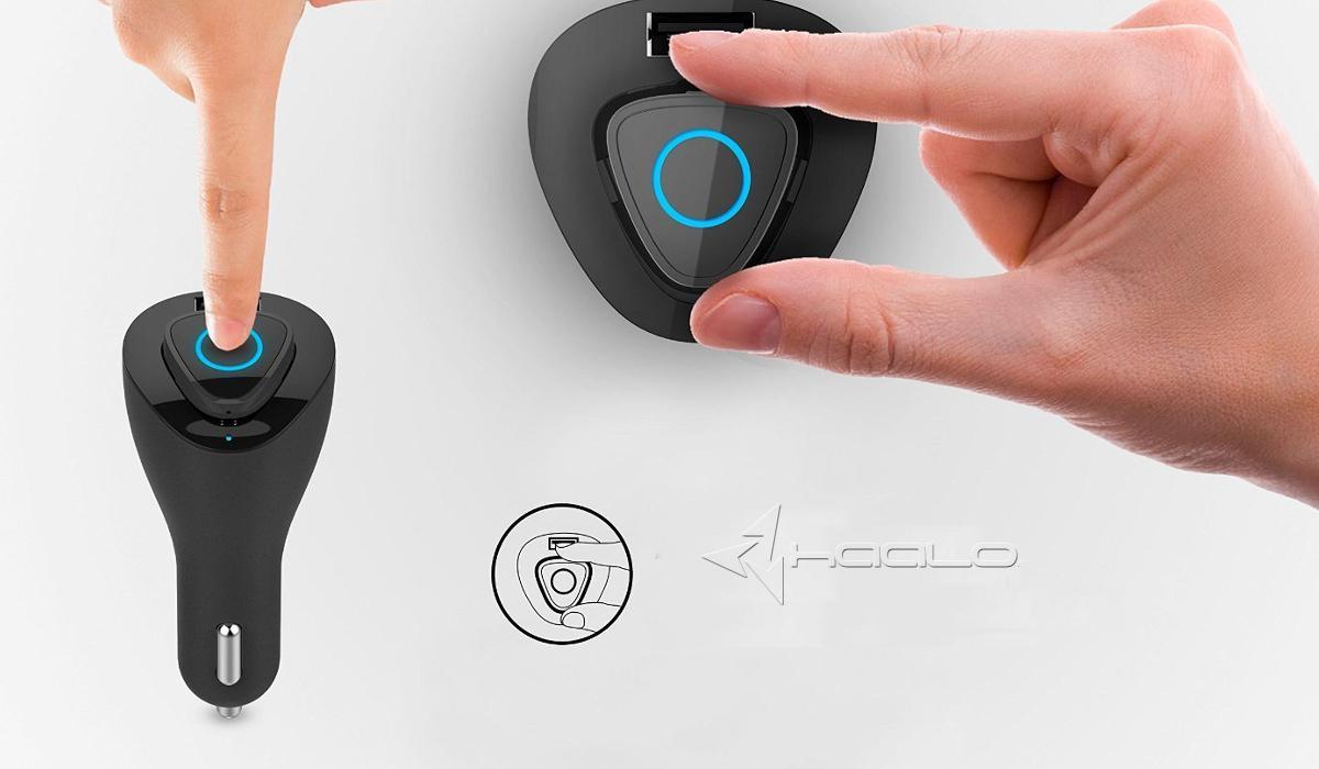 Devia Vortex Car Charger Słuchawka bluetooth ładowarka samochodowa automatyczne łączenie