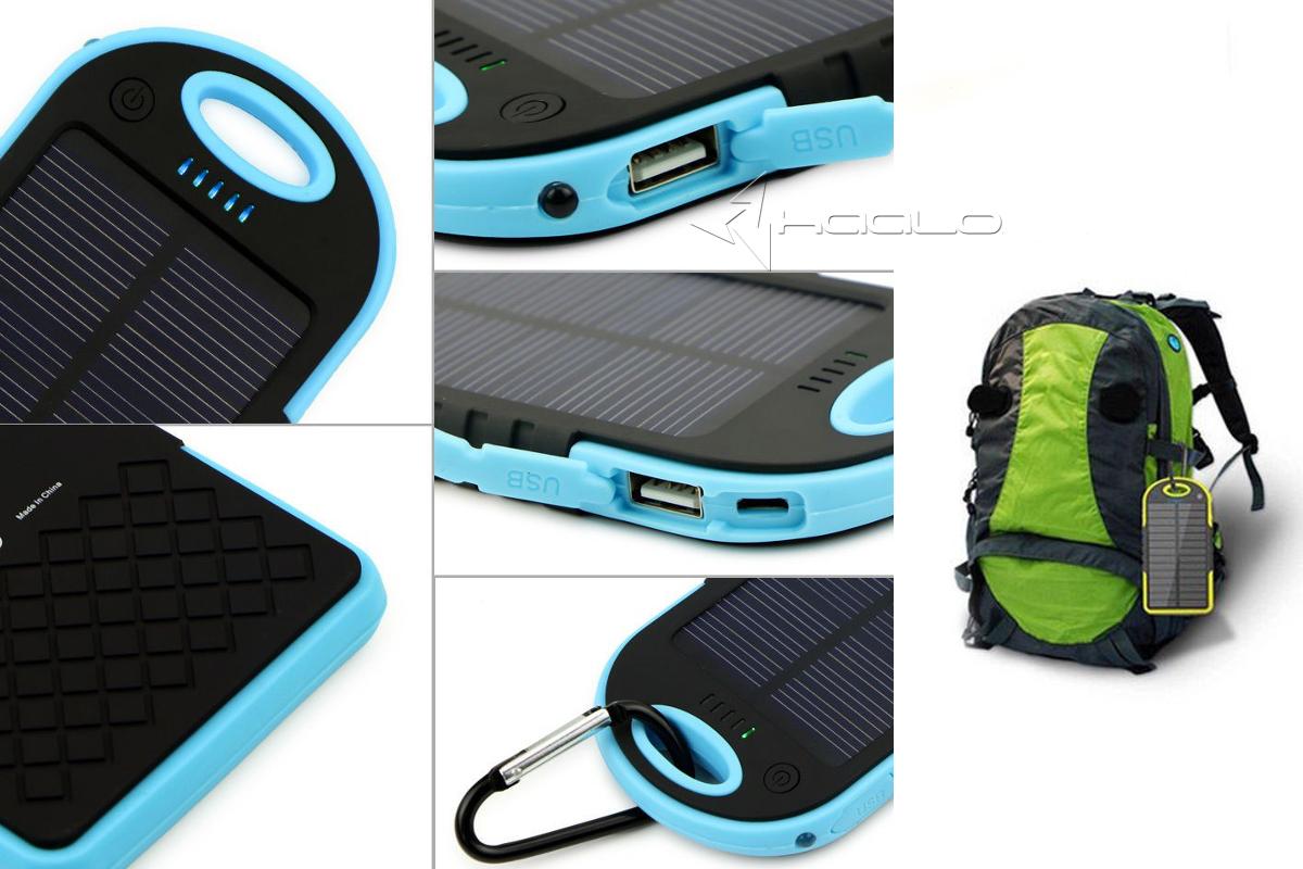 Powerbank Solarny Ładowarka soladna 2x USB 5000 mAh