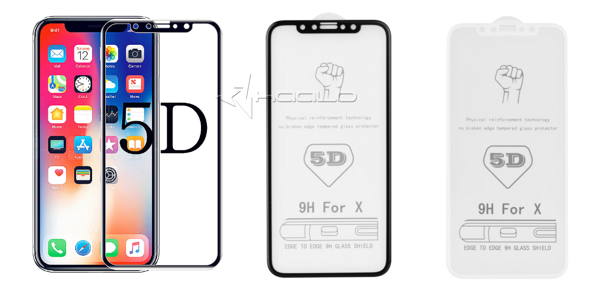 Szkło hartowane 5D Full Cover Glass na cały ekran do iPhone X