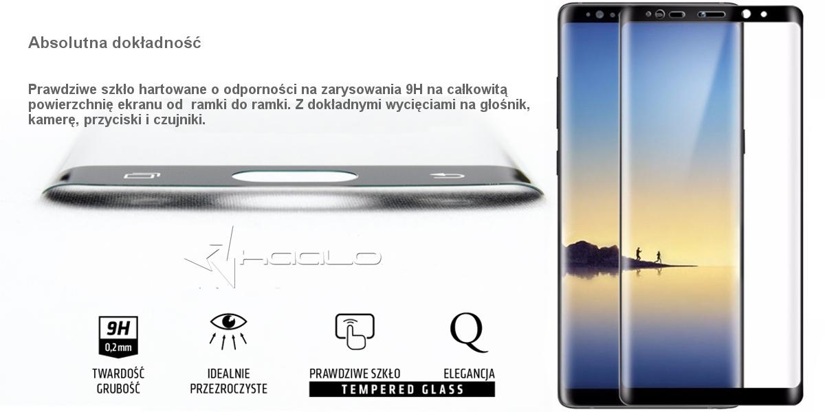 Szkło hartowane na cały ekran do Samsung Galaxy Note 8 N950 zagięte